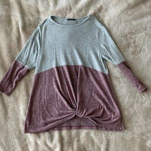 Front Twist Knit Top